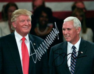 Donald Trump Mike Pence 8x10 Signed Photo Autographed Picture