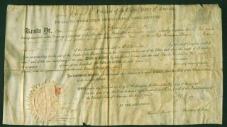 Thomas Jefferson James Madison Signed Autographed 1808 Document Beckett Bas