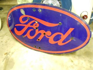 Large Porcelian Ford Sign 1930s 1940s