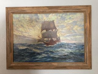 Painting By Anton Otto Fischer 1923 Professionally Cleaned And Framed