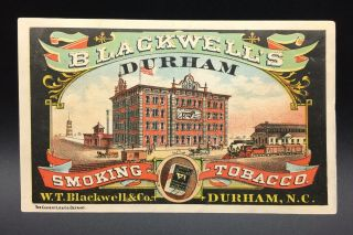 W.  T.  Blackwell Smoking Tobacco Advertising Trade Card,  St.  Louis,  Mo