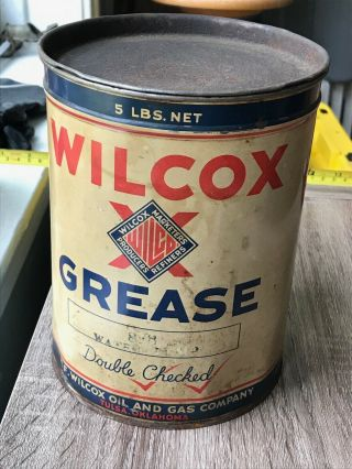 Wilcox Grease,  5 Lb Can,  Empty
