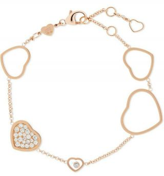 Chopard Happy Hearts 18 - Karat Rose Gold Diamond Bracelet