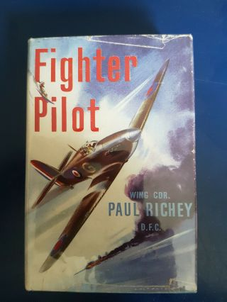Wwii Raf Battle Of Britain Hurricane Fighter Ace Paul Richey Dso Dfc Signed