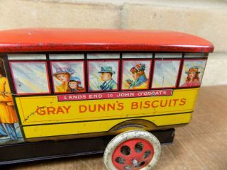 Gray Dunn Midland Bus Figural Advertising Toy Tin c1920s 3