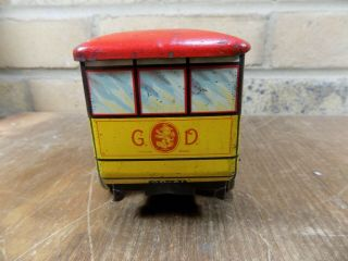 Gray Dunn Midland Bus Figural Advertising Toy Tin c1920s 8