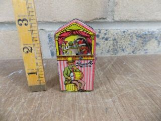 Pascall Punch & Judy Mechanical Miniature Sample Toffee Tin C1910