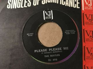 1964 The Beatles Please Please Me / Ask Me Why 45 Vee - Jay 498