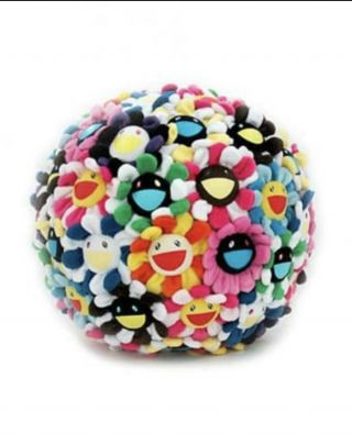 Takashi Murakami Limited Edition Plush Flower Ball Sculpture