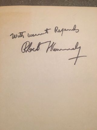 "Robert ""bobby"" Kennedy Signed Book ""the Enemy Within"" Senator/atty.  General"