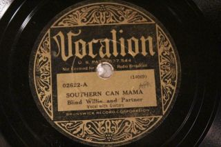 Blues Blind Willie Mctell Southern Can Mama / It