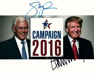 Donald Trump Mike Pence 8x10 Signed Photo Autographed Picture,