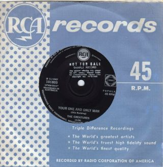 "The Creatures 45 "" Ugly Thing "" / "" Your One And Only Man "" - Promo"