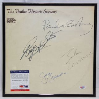The Beatles Historic Sessions Recorded Autographed Psa/dna Certified K74951