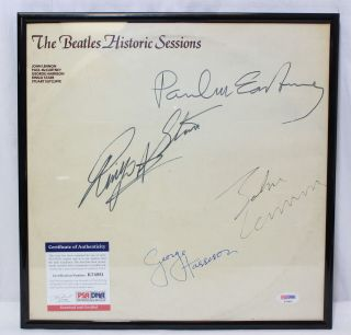 The Beatles Historic Sessions Recorded Autographed PSA/DNA Certified K74951 5