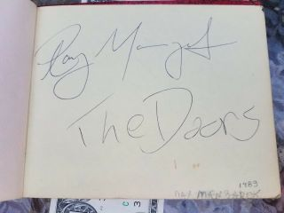 Autograph Book Andy Warhol,  Michael Jackson,  Ray Manzarek Many More