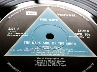 Pink Floyd Dark Side Of The Moon Solid Blue Ex,  1st Rarest A2 B2 Top Sound
