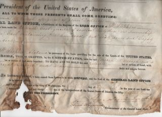 Andrew Jackson Land Grant - - Plus 4 Other Signed By Relatives And Secretaries