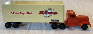 Ralstoy Truck King World Wide Movers Logo Rare Early Style Trailer And Cab