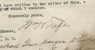 President William H.  Taft Signed 1918 Letter RE: Blackmail PSA/DNA LOA Autograph 2
