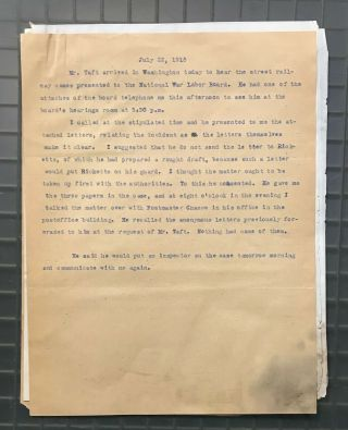 President William H.  Taft Signed 1918 Letter RE: Blackmail PSA/DNA LOA Autograph 4
