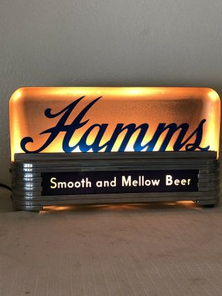 1940's Hamm's Beer Lighted Cash Register Advertising Sign Hamms Back Bar Display