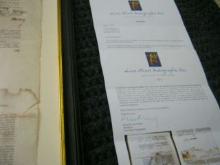 Presidents JAMES MADISON JAMES MONROE Dual AUTOGRAPH Ship ' s Papers SIGNED 1812 11