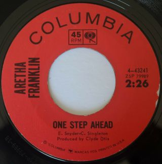 Northern Soul Aretha Franklin One Step Ahead / I Can