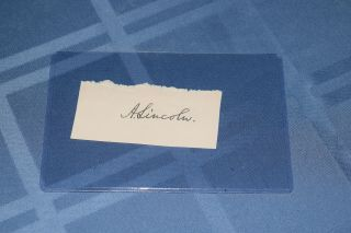 President Abraham Lincoln Signed Autographed Document Cut