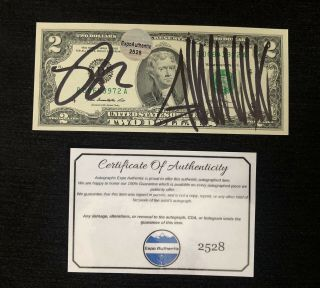 President Donald Trump & Mike Pence Signed Autograph $2 Dollar Bill W