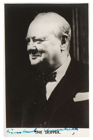 Winston S.  Churchill Photograph Signed - Taken While Prime Minister During Wwii