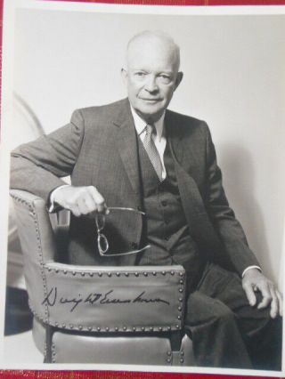 1968 Dwight Eisenhower Autographed Photograph W/ Envolpe Indio Ca.