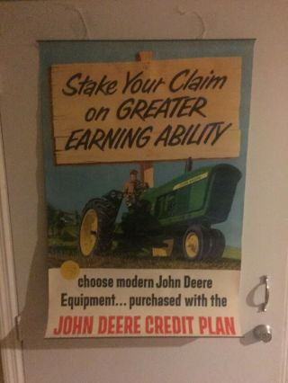 1960 John Deere Dealership Poster - 4010 Tractor Stake Your Claim (2)
