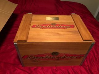 Budweiser Wooden Crate Collectible (one Of A Kind)
