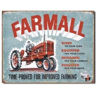 Farmall Ih International Harvester Tractor Farm Vintage Model A Metal Tin Sign
