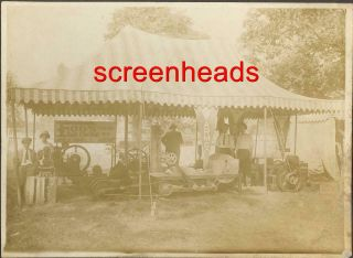 Early Foos Hit & Miss Gas Engine Promo Cabinet Photo Armco Steel Middletown Oh.