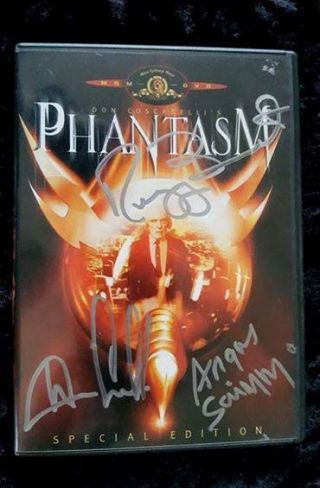 My 1979 Film Phantasm Dvd Hand Signed By Angus Scrimm - Banister - Coscarelli.  Rare