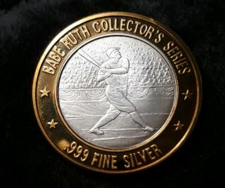 Rare Babe Ruth.  999 Silver Strike Signed,  714 Home Runs Collectors Series Wow