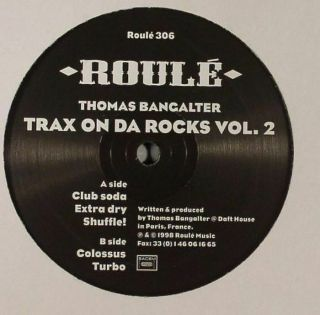"Bangalter,  Thomas - Trax On Da Rocks Vol 2 - Vinyl (12 "")"