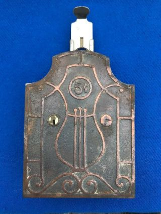 Rare Vintage 5 Cent Nickelodeon Cast Iron Wall Box Player Orchestrion Coin Op
