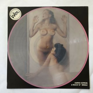 "Kevin Wet Clear Vinyl 12"" Private Hard Rock Ep Cheesecake Cover"