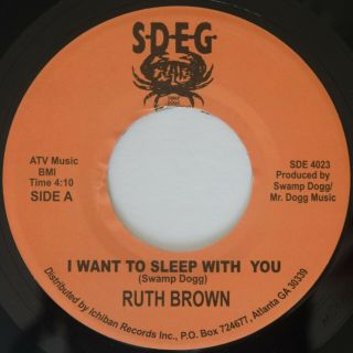 Rare Sweet Soul Ruth Brown I Want To Sleep With You / What Color Is Blue M - Sdeg