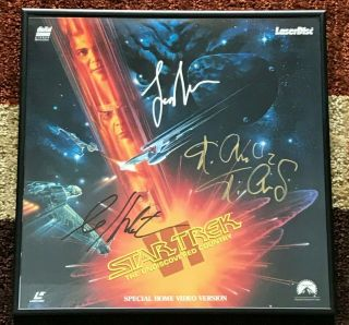 Star Trek Vi: The Undiscovered Country Laserdisc Signed By William Shatner,  More