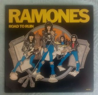 Ramones ‎– Road To Ruin (vinyl,  Lp,  Us,  1978,  Srk 6063,  First Edition. ) Vg,