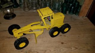 Vintage Nylint Pressed Steel Yellow Road Grader Construction Vehicle Truck Vg