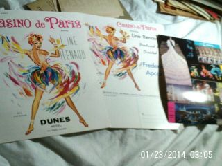 Two Vintage Brochures And Card For The Dunes Hotel,  Las Vegas