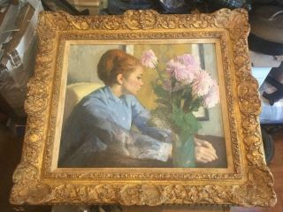 Ramon Pichot Signed Oil Painting Figure Con Flores Hammer Galleries