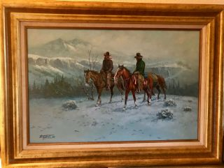 Fred Oldfield Framed Oil Painting - Signed