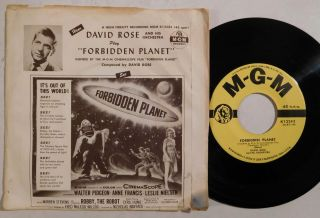 David Rose Forbidden Planet Mgm 45 Rpm With Picture Sleeve Rare Science Fiction