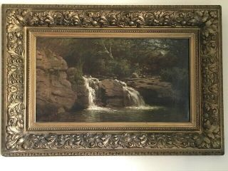 Early Landscape Oil Painting - Signed George Lafayette Clough (1824 - 1901)